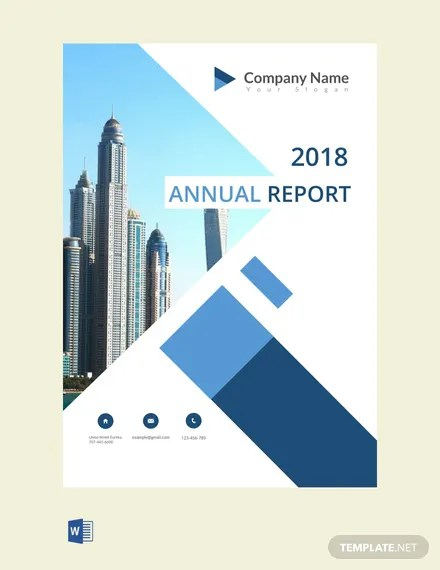 FREE Annual Report Cover Page Template Download 458+ Reports in