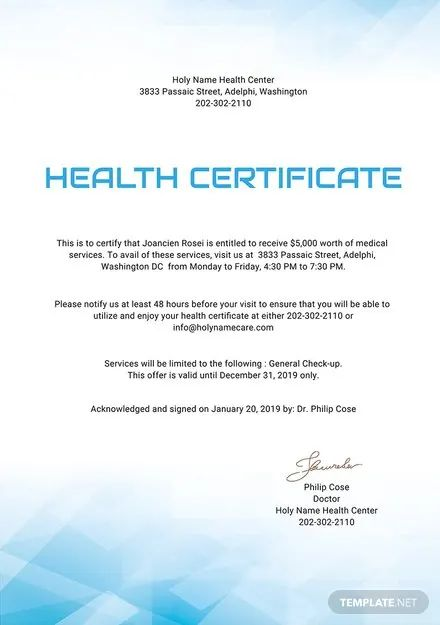 certificate download free