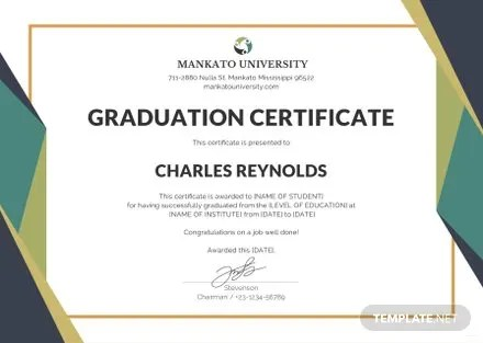Free Graduation Certificate Template in Microsoft Word, Microsoft - graduation certificate