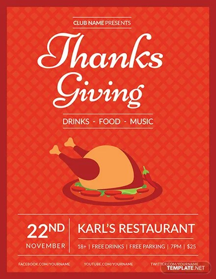 FREE Club Thanksgiving Flyer Template Download 812+ Flyers in PSD