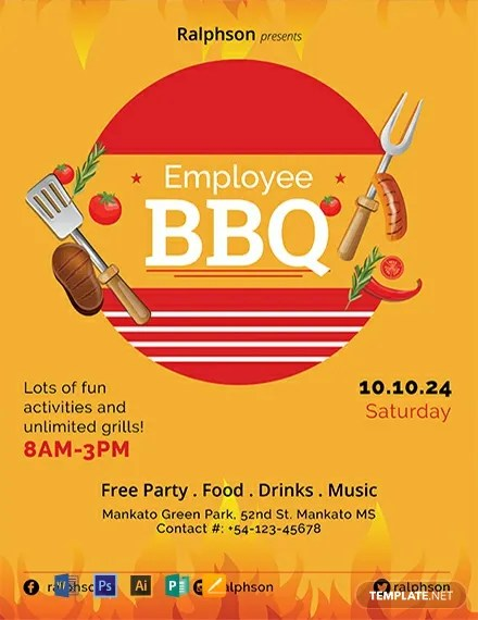 FREE Employee BBQ Party Flyer Template Download 812+ Flyers in PSD