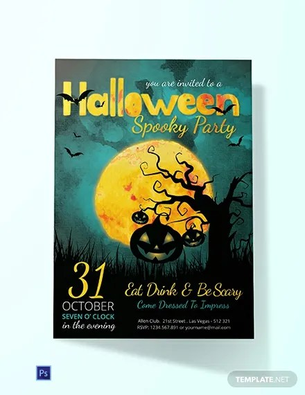 FREE Spooky Halloween Party Invitation Template Download 636+