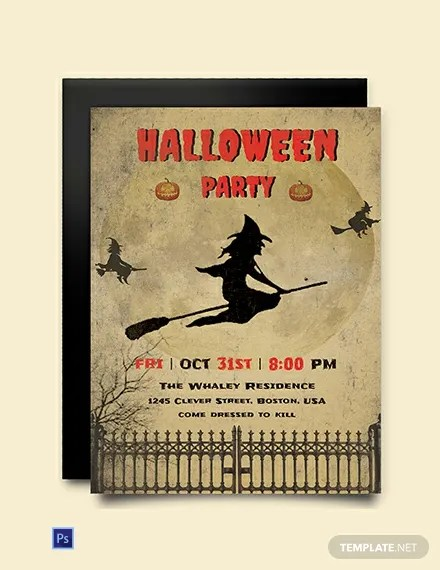 FREE Download Halloween Invitation Template Download 637+