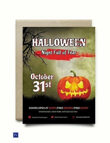 FREE Fright Night Halloween Invitation Template Download 636+