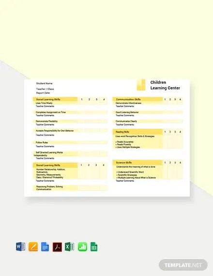 FREE School Report Card Template Download 458+ Reports in Word