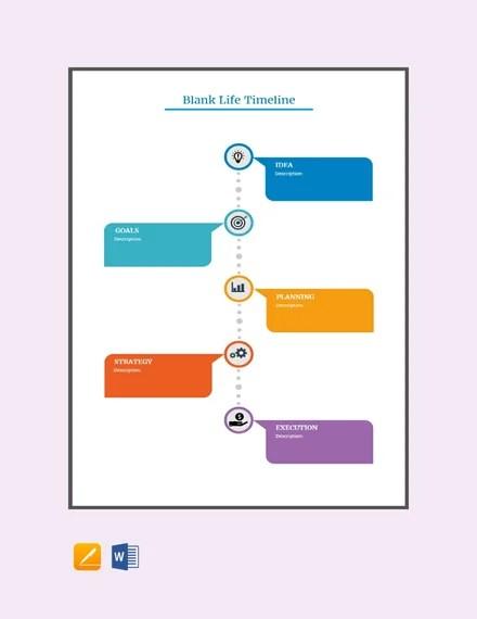 FREE Blank Life Timeline Template in Microsoft Word, Apple Apple