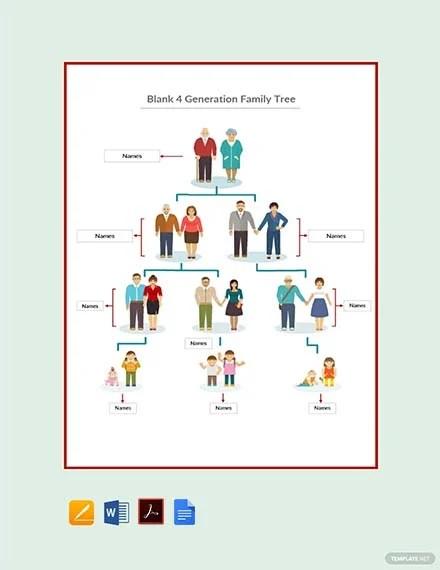 family tree template 4 generation - Pinarkubkireklamowe