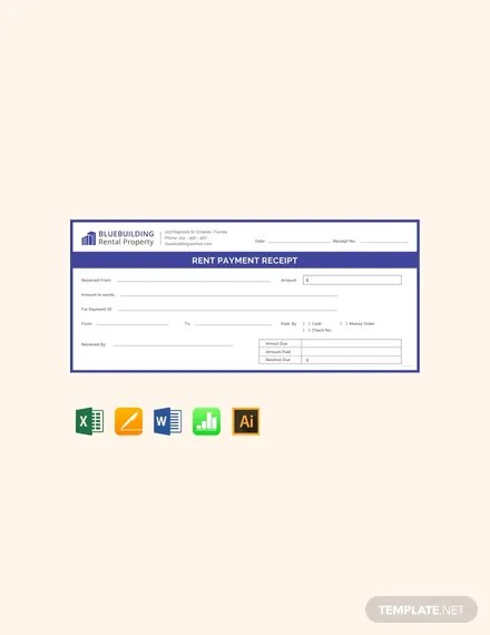 FREE Rent Payment Receipt Template Download 119+ Receipts in