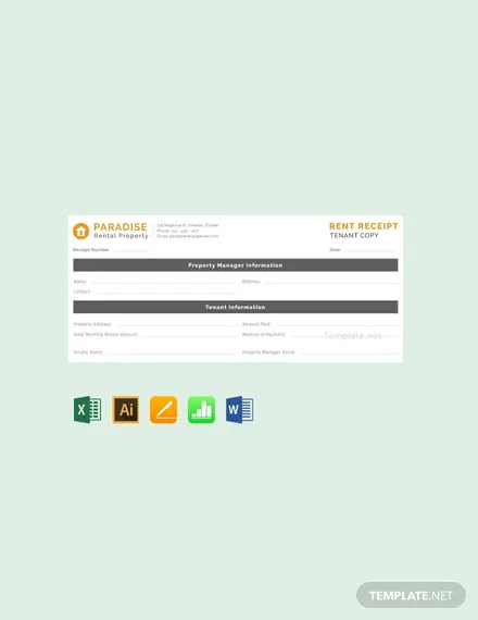 26+ FREE Rent Receipt Templates Download Ready-Made Templatenet