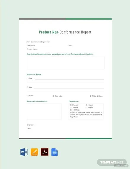 FREE Product Non-Conformance Report Template Download 365+ Reports