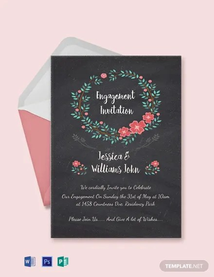 Free Engagement Invitation Card Template Download 300+ Invitations