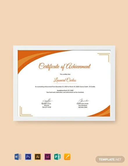 FREE Certificate of Achievement Template Download 435+ Certificates