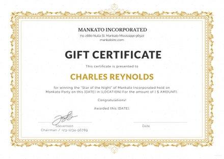 Free Fancy Gift Certificate Template in Microsoft Word, Microsoft - gift certificate template pages