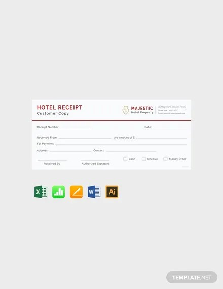 FREE Simple Hotel Receipt Template Download 119+ Receipts in