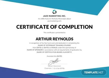 Free Certificate of Project Completion Template Free Templates - certificate for project completion