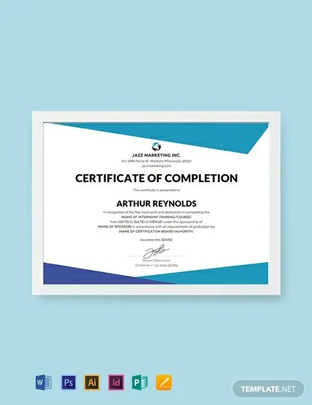 FREE Course Completion Certificate Template Download 435+