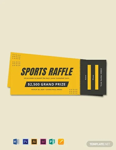 FREE Sports Raffle Ticket Template Download 101+ Tickets in PSD