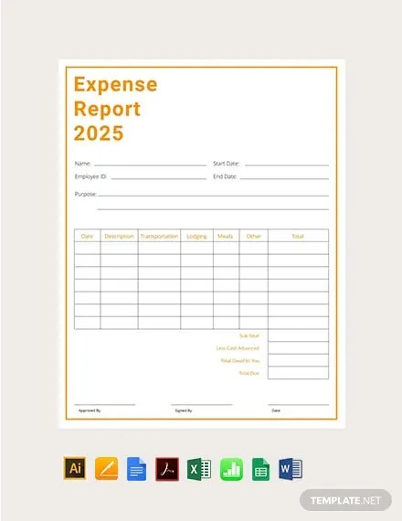 FREE Expense Report Template Download 449+ Reports in Illustrator