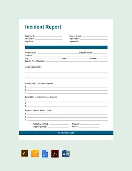 28+ Incident Report Templates in Word Free  Premium Templates
