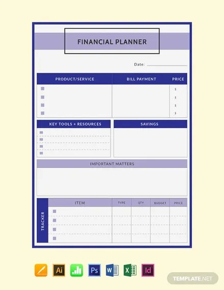 FREE Financial Planner Template Download 32+ Planners in PSD