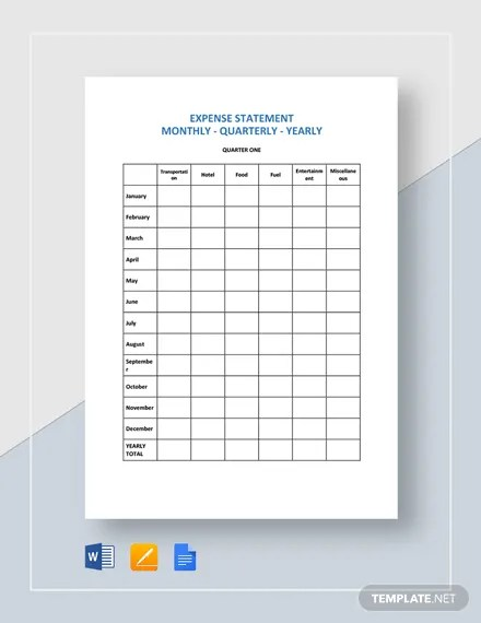 Annual Expense Report Template Download 23+ Templates in Microsoft