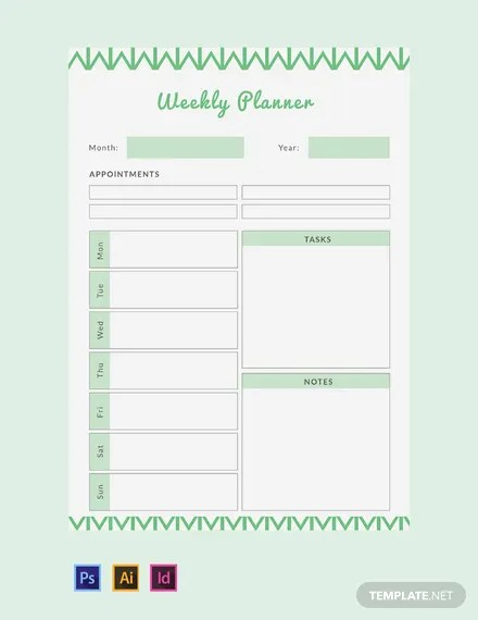 FREE Weekly Planner Template Download 32+ Planners in PSD