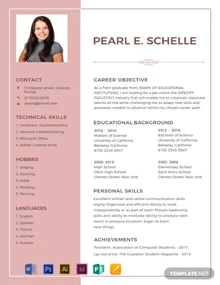 FREE High School Resume and CV Template Download 316+ Resume