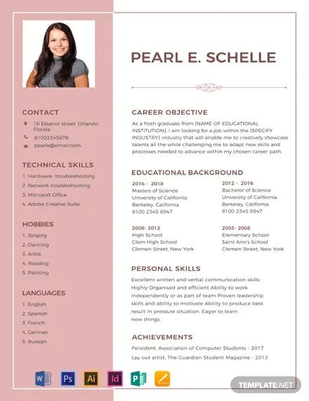 resume objectives for high school graduates