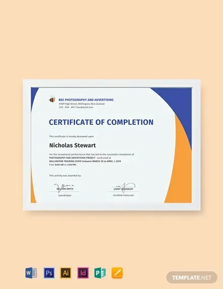 FREE Completion Certificate Template Download 435+ Certificates in