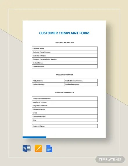 FREE HR Complaint Form Template Download 131+ Forms in Word, PDF