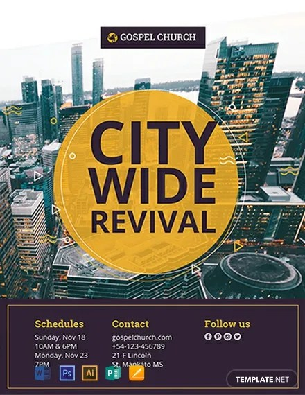 FREE Revival The City Church Flyer Template Download 812+ Flyers in