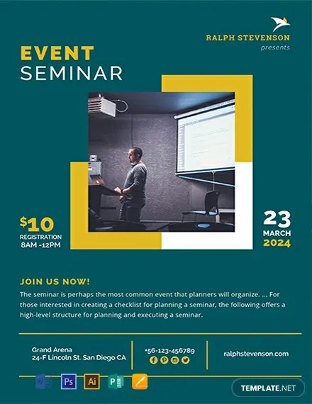 FREE Seminar Flyer Template Download 812+ Flyers in PSD