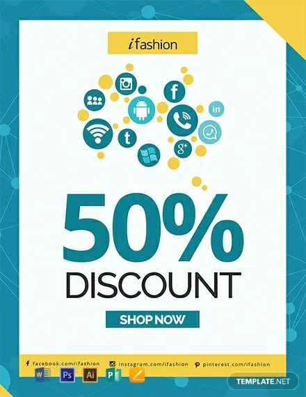 FREE Social Media Discount Flyer Template Download 812+ Flyers in