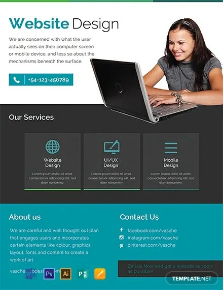 FREE Website Design Flyer Template Download 884+ Flyers in PSD