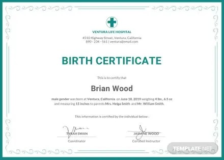 Free Birth Certificate Template in Adobe Photoshop, Illustrator - birth certificate