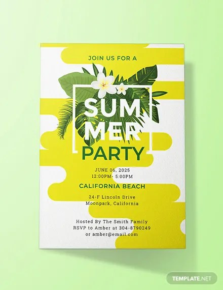 FREE Summer Party Invitation Template Download 637+ Invitations in