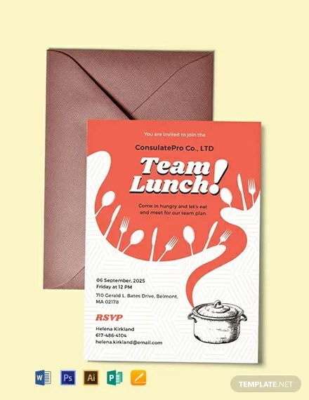 FREE Team Lunch Invitation Template Download 637+ Invitations in