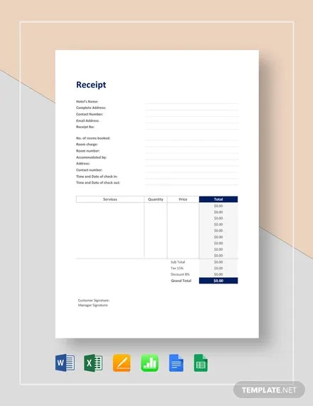 119+ FREE Receipt Templates Download Ready-Made Templatenet
