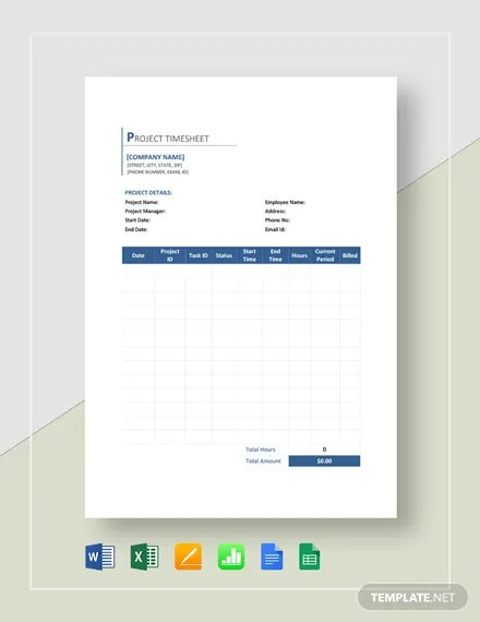 FREE Sample Contractor Timesheet Template Download 524+ Sheets in