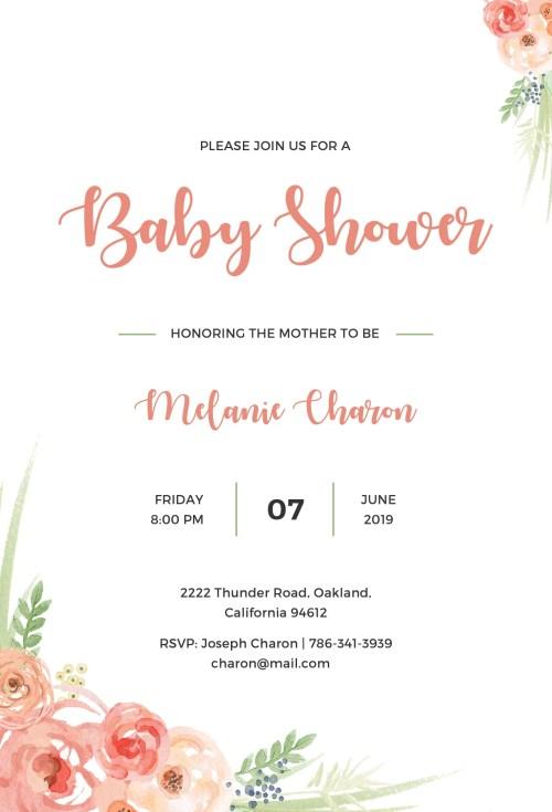 Medium Of Baby Shower Invitation Templates