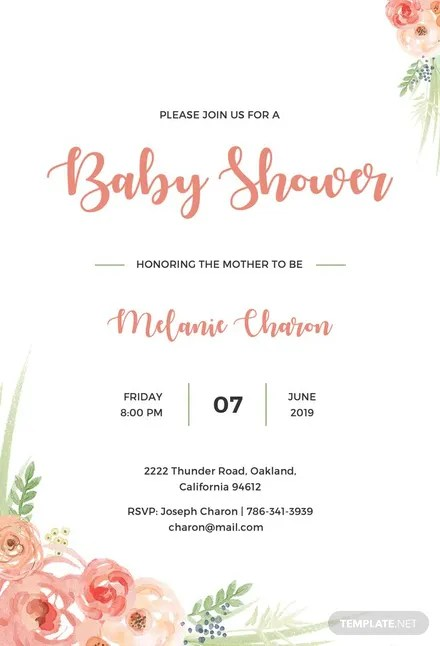Free Baby Shower Invitation Template in Adobe Photoshop, Illustrator - baby shower invitation templates for microsoft word