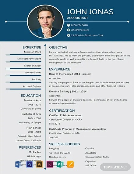 Ms Office Resume Templates 92+ Free Photo Resume Templates - Word | Psd | Indesign