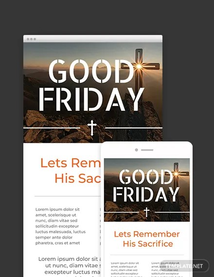 FREE Good Friday Email Newsletter Template Download 1251+ Email