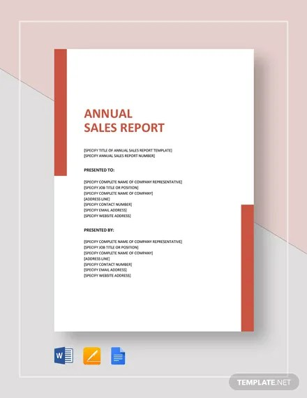 21+ Sample Annual Report Templates - Word, PDF, Pages Free