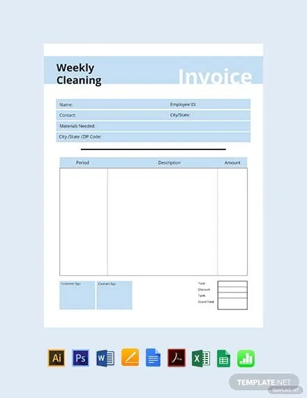 FREE Commercial Cleaning Invoice Template Download 156+ Invoices in