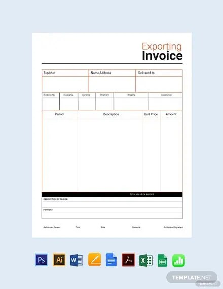 FREE Commercial Export Invoice Template Download 156+ Invoices in