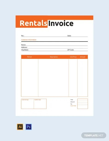 FREE Commercial Rental Invoice Template Download 156+ Invoices in