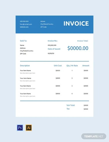 FREE Generic Commercial Invoice Template Download 156+ Invoices in