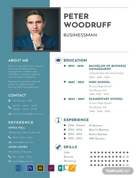 one page cv format