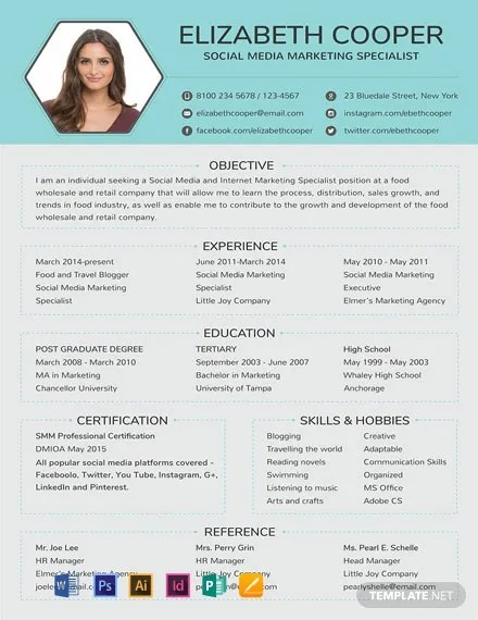 FREE Social Media Specialist Resume Template Download 316+ Resume
